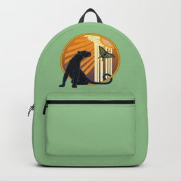 Jaguar Plain Art Deco Backpack