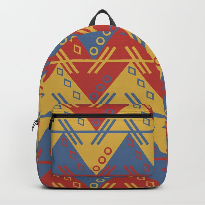 Tribal Zigzag Line Pattern Backpack