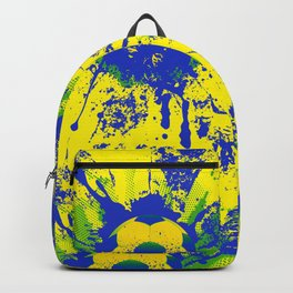 Green, blue, yellow soccer ball Backpack