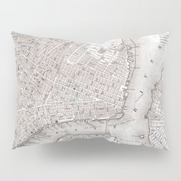 Vintage New York City Map Pillow Sham