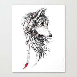 Feather Wolf Canvas Print