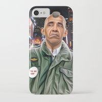 taxi driver iPhone & iPod Cases featuring Obama taxi driver by IvándelgadoART
