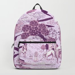 Mythical Creatures Toile- Plum purple colors Backpack