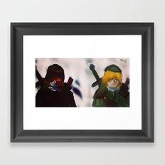 A Link to the Link Framed Art Print