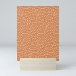 Raw Sienna - pink - Modern Vector Seamless Pattern Mini Art Print