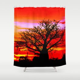 Fire n Boab Shower Curtain