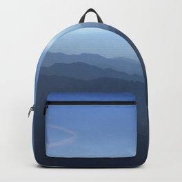 Blue dreams II. Misty mountains Backpack