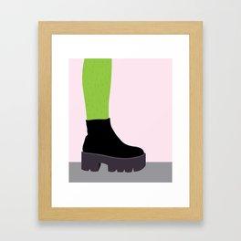 Cactus Leg Framed Art Print