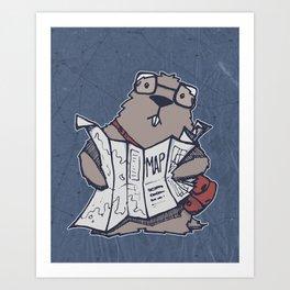 A Geeky Marmot Art Print