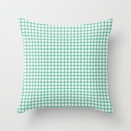 Along the Rio Grande: Turquoise Lattice Coordinate Print Throw Pillow