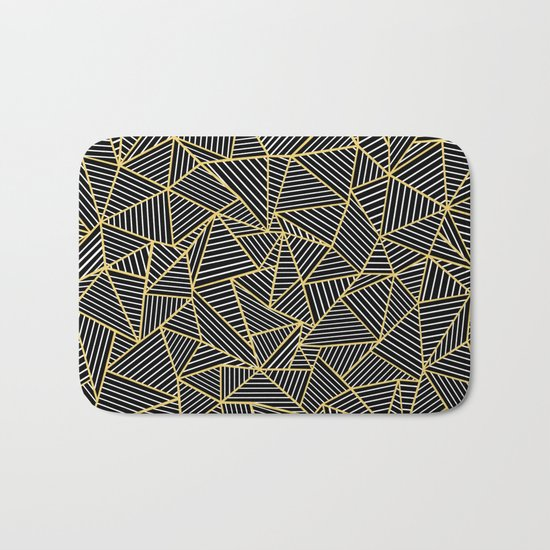 Ab Out Double Repeat Black Bath Mat