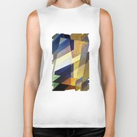 marble Biker Tanks featuring Marble Mosaic by David Lee