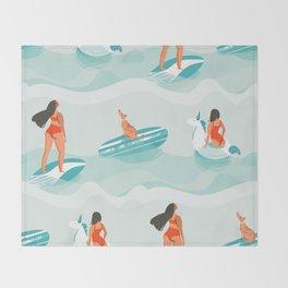 Summer pattern Throw Blanket