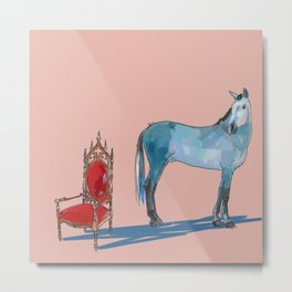 animals with chairs #1 The argument Metal Print
