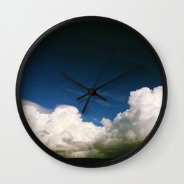 Photography clouds sky Punat Croatia Wall Clock