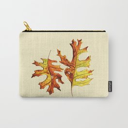 Ink And Watercolor Painted Dancing Autumn Leaves Carry-All Pouch
