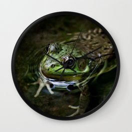Frog Floating Wall Clock