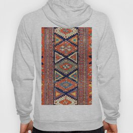 Southwestern Farmhouse II // 19th Century Colorful Red Yellow Blue Green Aztec Farm Stars Pattern Hoody