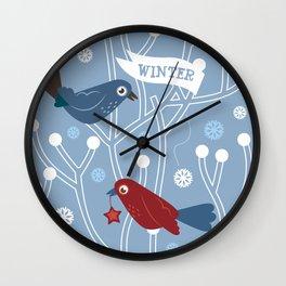 4 Seasons - Winter Wall Clock