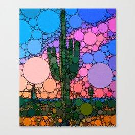 Contemporary Cactus Canvas Print