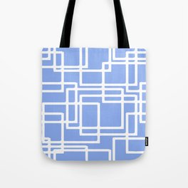 Retro Modern Rectangles On Summer Sky Blue Tote Bag