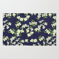 April blooms(Dogwoods_blue) Rug