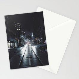 Night street reflect Stationery Cards