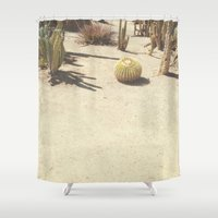 cacti Shower Curtains featuring Cacti by Amber Barkley