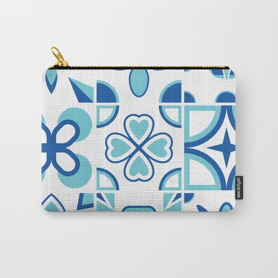 Azulejos blue Carry-All Pouch