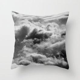 WINTER STORM NATURAL Throw Pillow