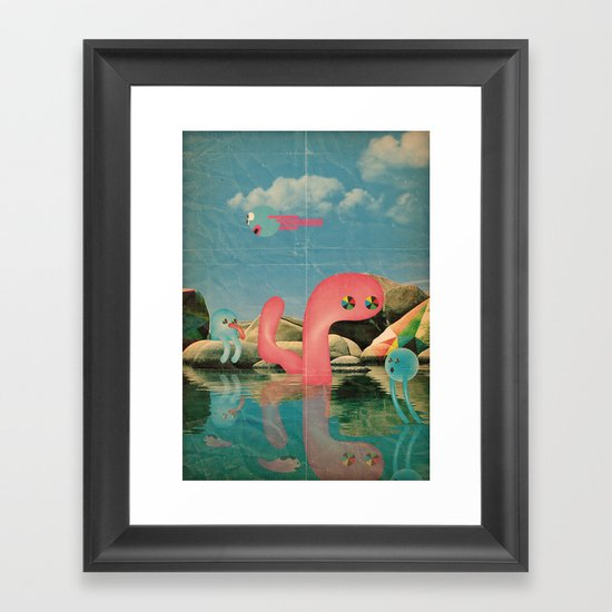 lago animato Framed Art Print