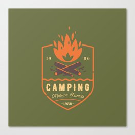 Fire - Camping Canvas Print