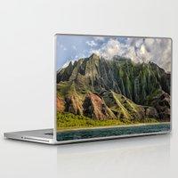 spires Laptop & iPad Skins featuring Na' Pali Spires, Kauai, Hawaii  by Elliott's Location Photography