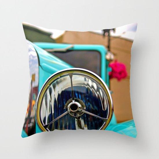 Headlight Americana Throw Pillow