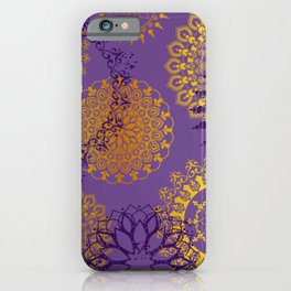 Mandala sky - Violet and gold iPhone Case