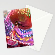 Niji Karakasa (Rainbow Umbrella) Stationery Cards