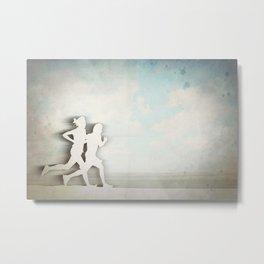 Runners Metal Print