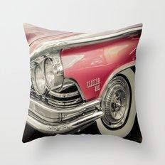 Pink Buick Electra 225 Car Throw Pillow