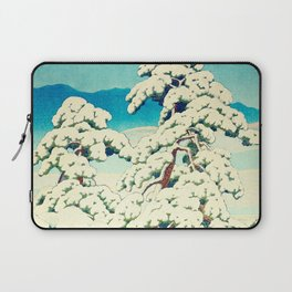 A Morning in the Snow Laptop Sleeve