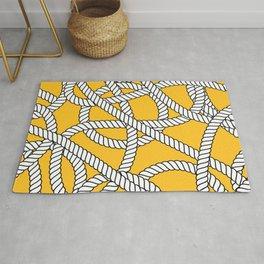 Nautical Yellow Rope Pattern Repeat Rug