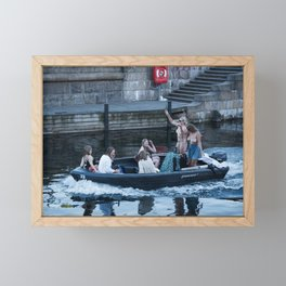 The Boat that Rocked Framed Mini Art Print