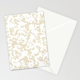 Spots - White and Pearl Brown Stationery Cards