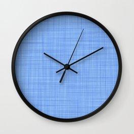 Periwinkle Blue Plaid Pattern Wall Clock