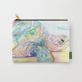 Rainbow Sea Turtle 7 Carry-All Pouch