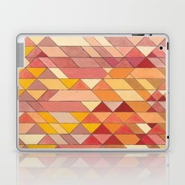 Triangle Pattern no.4 Warm Colors Red and Yellow Laptop & iPad Skin