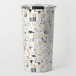Watercolour Sheep Travel Mug