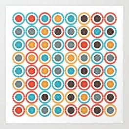Rings and balls Art Print