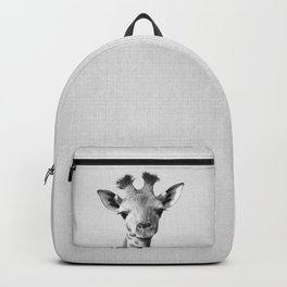 Baby Giraffe - Black & White Backpack
