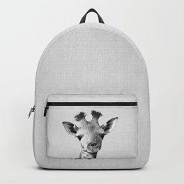 Baby Giraffe - Black & White Backpack