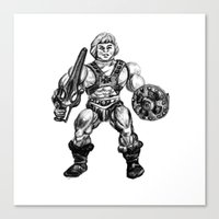 he man Canvas Prints featuring HE-MAN by Furry Turtle Creations